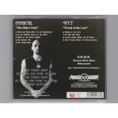 Photo2: The Other Gods - Wrath Of The Lost / Inimical & Sect [New CD] [CD-R] [Import]