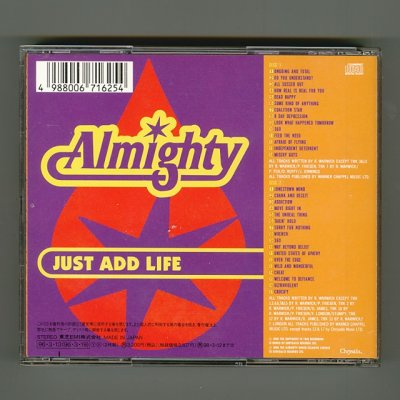 Photo2: Just Add Life + Live / The Almighty [Used CD] [2CD] [w/obi]
