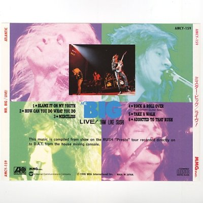 Photo2: Live! Raw Like Sushi / Mr. Big [Used CD] [w/obi]
