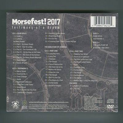 Photo2: Morsefest 2017: Testimony Of A Dream / The Neal Morse Band [4CD+2DVD] [Sealed] [Import]