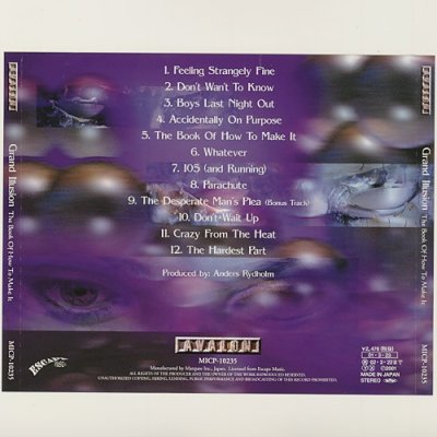 Photo2: The Book Of How To Make It / Grand Illusion [Used CD] [w/obi]