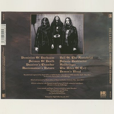 Photo2: Dominion Of Darkness / Hellbringer [Used CD] [Import]