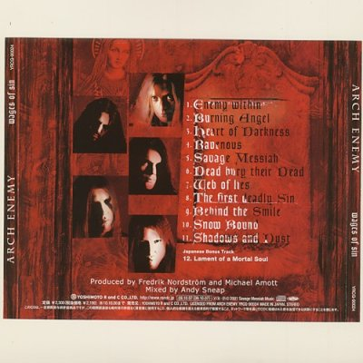 Photo2: Wages Of Sin / Arch Enemy [Used CD] [w/obi]