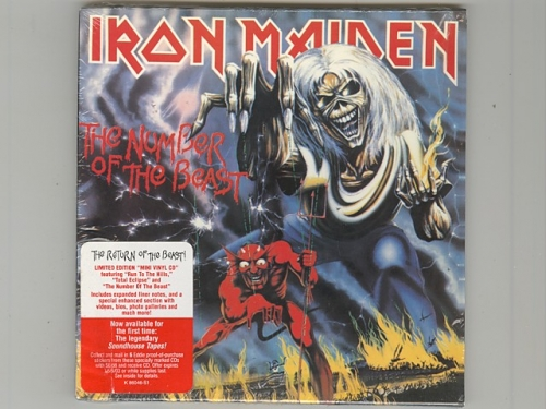 the number of the beast iron maiden used cd paper sleeve